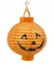 Grosse Halloween Deko Laterne Kürbis orange-schwarz