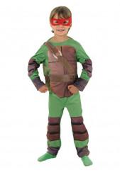 TMNT Turtles Deluxe Kinderkostüm grün-braun