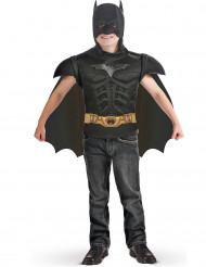 Batman-Brustschild mit Umhang Junge schwarz