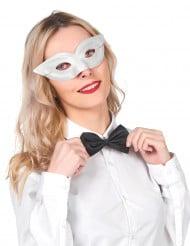 Klassische venezianische Augenmaske weiss
