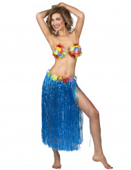 Hula Hawaiirock Kostüm-Accessoire blau