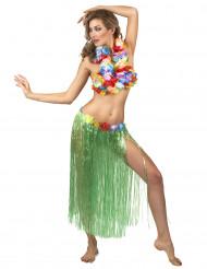 Farbenfroher Hawaii-Damenrock grün-bunt