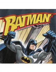 Batman-Servietten Fliegender Batman Superhelden-Servietten DC-Lizenzartikel 20 Stück schwarz-gelb-grau 33x33cm
