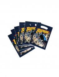 Batman-Geschenktüten Superhelden-Präsenttüten DC-Lizenzartikel 6 Stück blau-gelb-grau