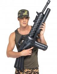 Maschinengewehr aufblasbar schwarz-grau