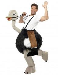 Straussenreiter-Unisex Carry Me-Kostüm bunt