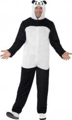 Panda-Kostüm für Erwachsene, schwarz-weiß