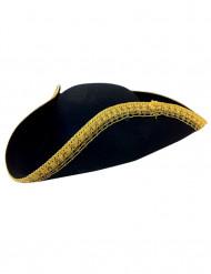 Piratenhut Dreispitz schwarz-gold
