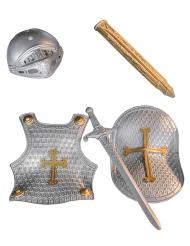 Ritterkostüm-Set für Kinder Ritterrüstung 4-teilig silber-gold