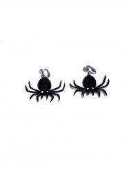 Halloween Ohrringe Spinnen Kostümaccessoire schwarz