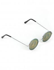 PEACE-Zeichen Hologramm-Brille