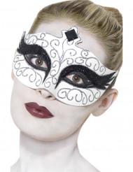 Gothic Schwan Augenmaske schwarz-weiss