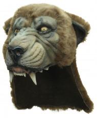 Halloween-Maske Wildtier Kostümaccessoire braun