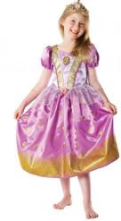 Disney Rapunzel Kinderkostüm mit Glitzereffekt Lizenzware pink-gold