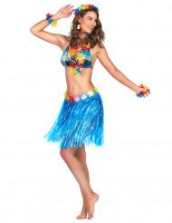 Hawaii-Rock für Damen blau-bunt