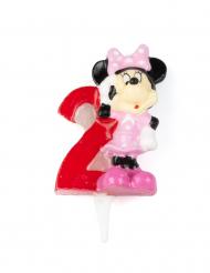Disney™ Minnie Maus™ Tortenkerze Zahl 2 Lizenzware bunt 6,5cm