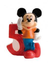 Micky Maus™-Kerze Geburtstagskerze Zahl 5