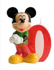 Micky Maus™-Kerze Geburtstagskerze Zahl 0