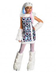 Monster High Abbey Bominable Kinder Kostüm Lizenzware weiss-blau-rot