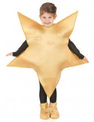 Goldiges Stern-Kostüm für Kinder goldfarben