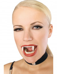 Vampirzähne Halloween nachtleuchtend weiss