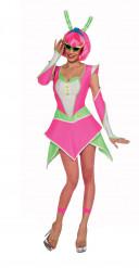 Alien-Kostüm Damen neon