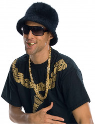 Goldfarbenes Gangstergebiss für Erwachsene