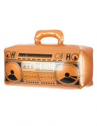 Aufblasbares Radio Ghettoblaster orange-schwarz