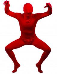 Hautenges Kostüm Einfarbiger Ganzkörperanzug rot