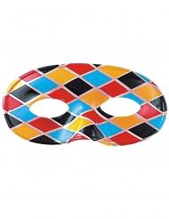 Harlekin Augenmaske Kostüm-Accessoire bunt