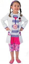 Doc McStuffins ärztin Kinderkostüm Lizenzware weiss-pink-lila