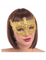 Venezianische Augenmaske mit Schnörkeln Kostüm-Accessoire gold