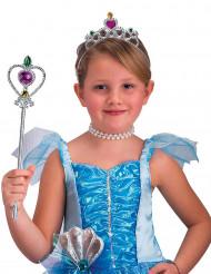 Prinzessin Kostümaccessoire-Set für Kinder 2-teilig silber