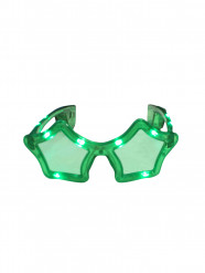 Leuchtende Sternbrille mit LED grün