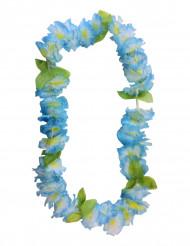 Hawaii-Kette Blumenkette Kostümaccessoire blau