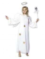 Weihnachtlicher Engel Damenkostüm weiss-gold