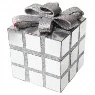 Weihnachtswürfel Geschenkwürfel weiss-silber