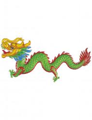 Party Deko Chinesischer Drache grün-rot-gelb-blau 100cm