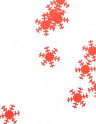Weihnachtskonfetti Schneeflocken rot 45g