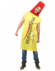 Mayonnaise-Tube Kostüm gelb-rot-schwarz