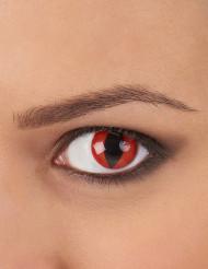 Kontaktlinsen Katze schwarz-rot