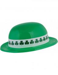 St. Patrick's Day Hut mit Kleeblättern grün-weiss