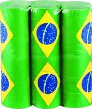 Brasilien-Luftschlangen Länder-Fanartikel 3 Stück grün-gelb-blau