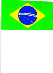 Brasilien Fanflaggen Fanartikel 20 Stück grün-blau-gelb