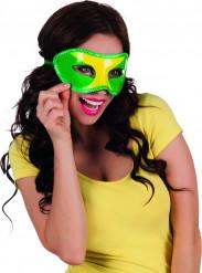 Brasilianische Augenmaske Brasilien-Maske grün-gelb