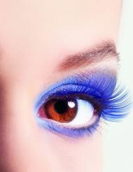 Künstliche Wimpern Fakewimpern neonblau