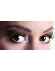 Wimpern mit Gold-Akzenten schwarz