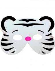 Tiger-Maske für Kinder weiss