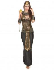 Nilkönigin-Damenkostüm ägypten schwarz-gold