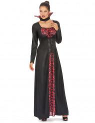 Aristokratische Vampirdame Halloweenkostüm schwarz-rot
